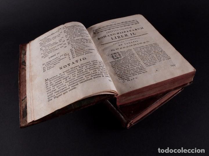 Libros antiguos: SALA INSTITUTIO ROMANO 2 TOMOS 1798 - Foto 5 - 69986953