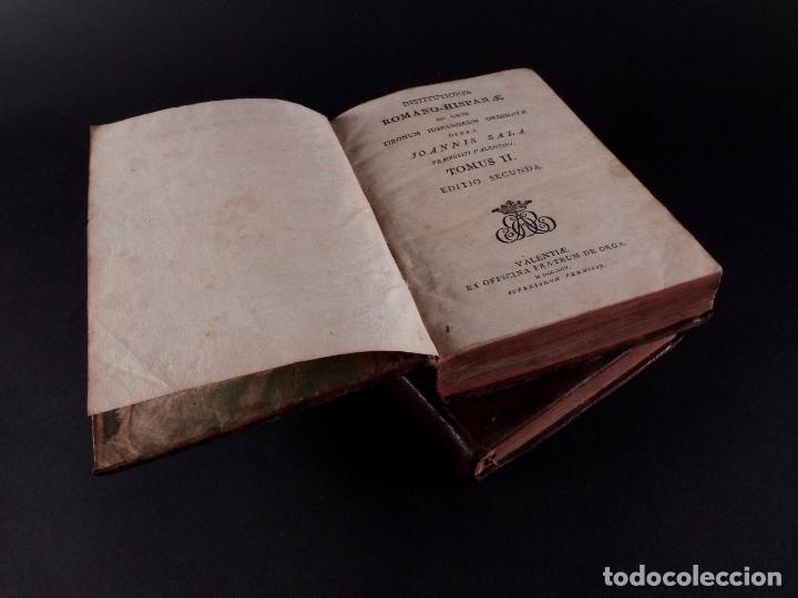 Libros antiguos: SALA INSTITUTIO ROMANO 2 TOMOS 1798 - Foto 6 - 69986953