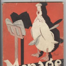 Libros antiguos: REVISTA MENAGE Nº 37. FEBRERO 1934. CON MUCHA PUBLICIDAD DE PRODUCTOS ALIMENTACIÓN. Lote 69996793