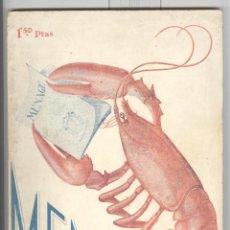 Libros antiguos: REVISTA MENAGE Nº 44. SEPTIEMBRE 1934. CON MUCHA PUBLICIDAD DE PRODUCTOS ALIMENTACIÓN. Lote 69996945