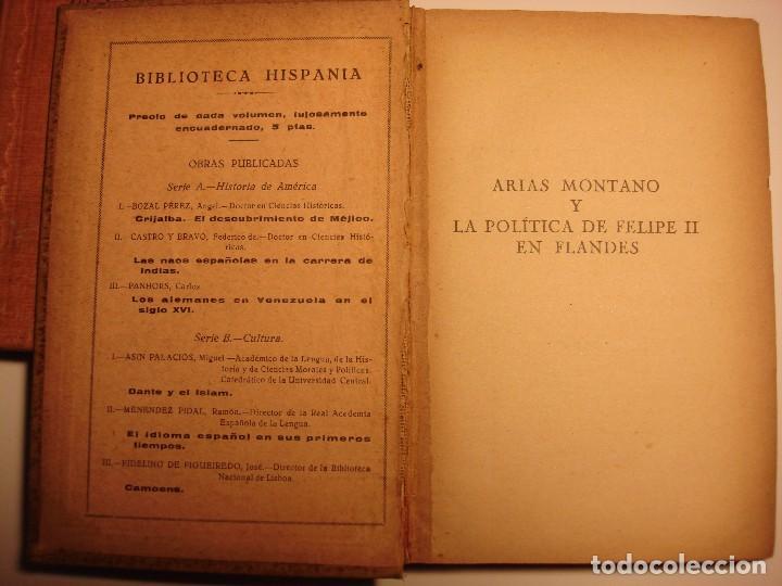 Libros antiguos: LOTE 2: EL MARQUES DE ARGENSÓN Y EL PACTO DE FAMILIA 1743 Y ARIAS MONTANO, HISPANIA 1927, 1928 - Foto 6 - 150741118