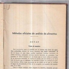 Libros antiguos: MÉTODOS OFICIALES DE ANÁLISIS DE ALIMENTOS. 195PAGS. 22,3 X 16,4 CM.. Lote 70079833