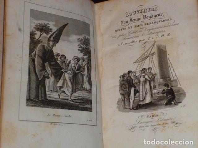 Libros antiguos: SOUVENIRS D´UN JEUNE VOYAGEUR, OU RECITS ET FAITS REMARQUABLES DES PLUS CÉLÈBRES VOYAGEURS MODERNES - Foto 2 - 70188509