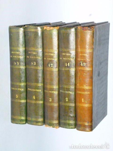 PHILOSOPHIE GENERALE. METAPHYSIQUE MORALE, ET THÉOLOGIE. (VOLTAIRE, 5 TOMOS, 1785) (Libros Antiguos, Raros y Curiosos - Otros Idiomas)