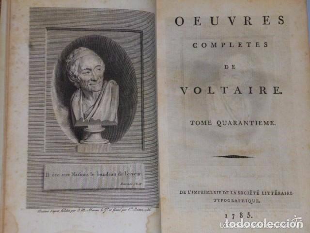 Libros antiguos: PHILOSOPHIE GENERALE. METAPHYSIQUE MORALE, ET THÉOLOGIE. (Voltaire, 5 TOMOS, 1785) - Foto 2 - 70248189