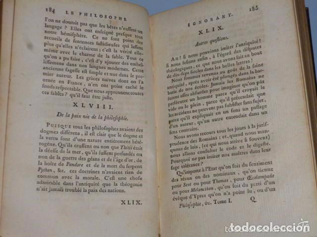 Libros antiguos: PHILOSOPHIE GENERALE. METAPHYSIQUE MORALE, ET THÉOLOGIE. (Voltaire, 5 TOMOS, 1785) - Foto 4 - 70248189