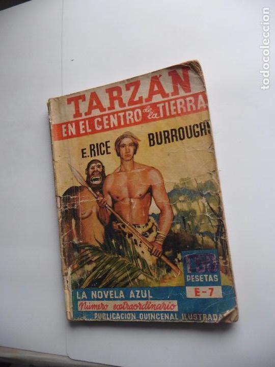 TARZAN EN EL CENTRO DE LA TIERRA -LA NOVELA AZUL 5 DICIEMBRE 1936 ORIGINAL (Libros Antiguos, Raros y Curiosos - Ciencias, Manuales y Oficios - Otros)