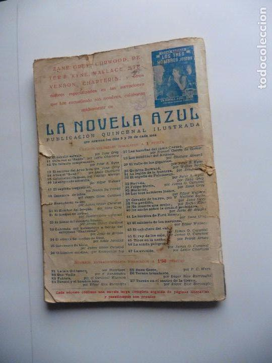 Libros antiguos: TARZAN EN EL CENTRO DE LA TIERRA -LA NOVELA AZUL 5 DICIEMBRE 1936 ORIGINAL - Foto 2 - 70442281