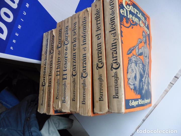 Libros antiguos: TARZAN E,RICE BURROUGHS TOMOS 1-3-4-5-6-7-8-9- 1933 ORIGINAL - Foto 2 - 70443513