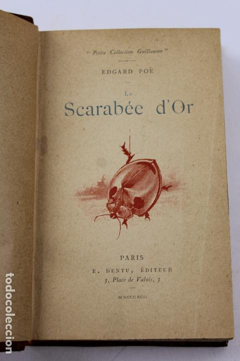 Libros antiguos: L- 4353. LE SCARABEE D' OR. TRADUCTION DE J.H. ROSNY , 1892. - Foto 1 - 70464797