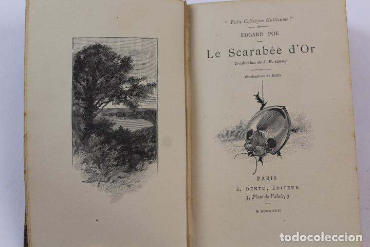 Libros antiguos: L- 4353. LE SCARABEE D' OR. TRADUCTION DE J.H. ROSNY , 1892. - Foto 4 - 70464797