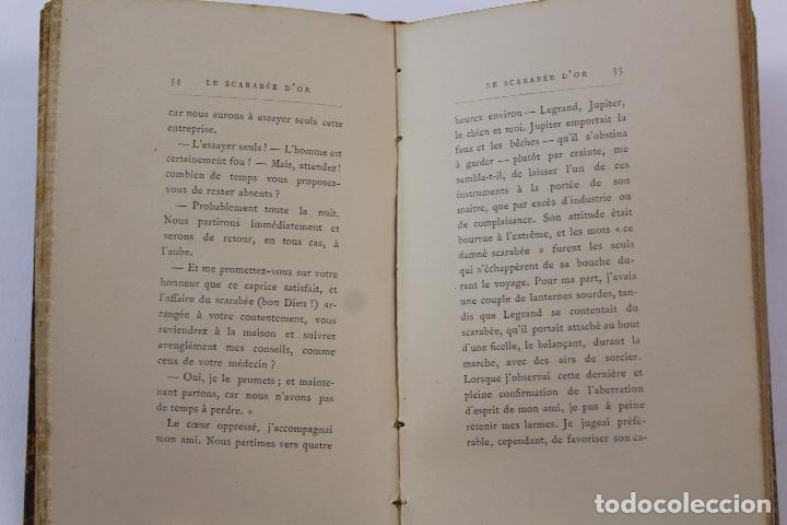 Libros antiguos: L- 4353. LE SCARABEE D' OR. TRADUCTION DE J.H. ROSNY , 1892. - Foto 6 - 70464797