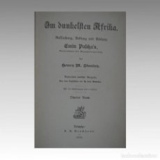 Libros antiguos: IN DUNKELSTEN AFRIKA - STANLEY, HENRY MORTON. Lote 54240340