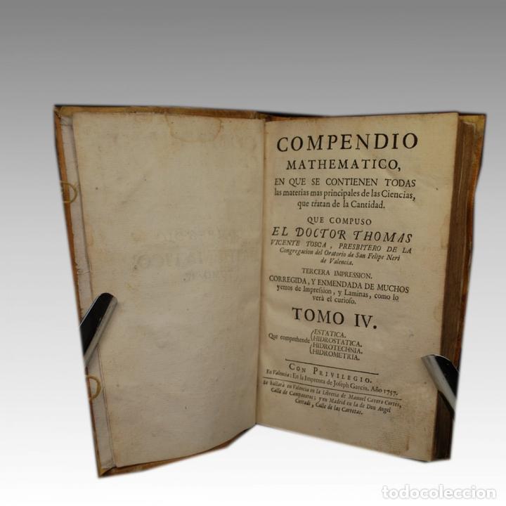 Libros antiguos: COMPENDIO MATHEMATICO TOMO IV (1757) - Foto 2 - 54240665