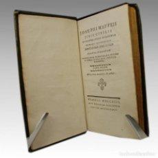 Libros antiguos: JOSEPHI MAFFEJI JURIS CIVILIS (TOMO I 1792). Lote 54240857