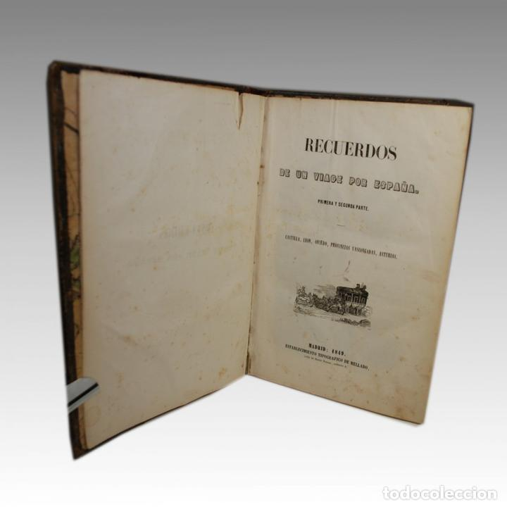 Libros antiguos: RECUERDOS DE UN VIAGE POR ESPAÑA (1849) - Foto 2 - 54240913