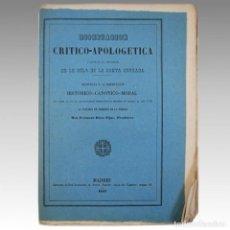 Libros antiguos: DISERTACION CRITICO APOLOGETICA A FAVOR DE LOS PRIVILEGIOS DE LA SANTA CRUZADA - RICCO FIJAS, FERNAN. Lote 54240925