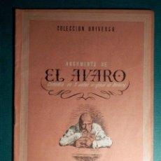 Libros antiguos: COLECCIÓN UNIVERSO - LAS OBRAS MAS FAMOSAS - EL AVARO - TOMO 15 Nº 15 - EDICIONES ESPAÑA. Lote 71123221