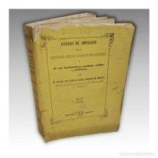 Libros antiguos: HISTORIA DE LOS CÓDIGOS ESPAÑOLES (1856) - DOMINGO RAMON DOMINGO MORATÓ. Lote 54241724