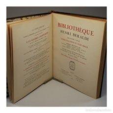 Libros antiguos: BIBLIOTHÈQUE HENRI BERALDI (1934) - HENRI BERALDI. Lote 54412093