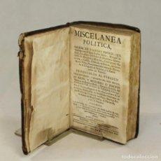 Libros antiguos: MISCELANEA POLITICA (1753) - JUAN CARLOS BAZÁN. Lote 58128030