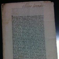 Libros antiguos: MILICIA HONRADA. BANDO DE LA GUERRA DE LA INDEPENDENCIA. 1808. Lote 71421007