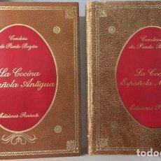 Libros antiguos: CONDESA DE PARDO BAZÁN : LA COCINA ESPAÑOLA ANTIGUA Y LA COCINA ESPAÑOLA MODERNA. (2 VOL.) . Lote 71545511
