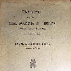 Libros antiguos: MIER Y MIURA : UTILIDAD DE LA SISMOLOGÍA. 1911 (CONSTITUCIÓN DE LA TIERRA; CAUSA DE LOS TERREMOTOS; . Lote 71609383