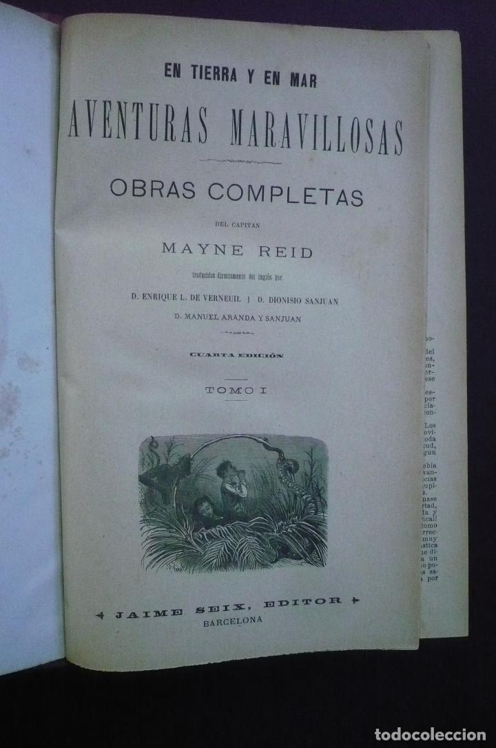 Libros antiguos: OBRAS COMPLETAS. 4 TOMOS. - REID, MAYNE. - Foto 2 - 71020894