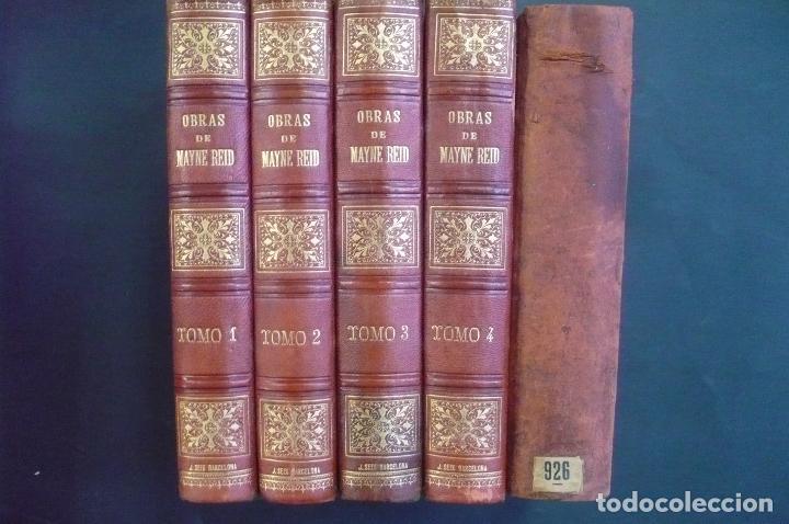 Libros antiguos: OBRAS COMPLETAS. 4 TOMOS. - REID, MAYNE. - Foto 3 - 71020894