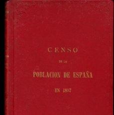 Libros antiguos: CENSO POBLACION DE ESPAÑA A 31 DICIEMBRE DE 1897 EDITA INSTITUO GEOGR. Y ESTADÍSTICO EN MADRID -1899. Lote 71950619