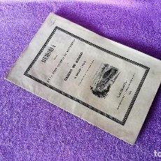 Libros antiguos: MEMORIA, JUNTA GENERAL DE ACCIONISTAS, CAMINO DE HIERRO, BARCELONA MATARO 1848. Lote 71956079