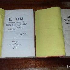 Libros antiguos: EL PLATA. CIENTÍFICO Y LITERARIO. REVISTA DE LOS ESTADOS DEL PLATA SOBRE... 7 TOMOS EN 2 VOL. (1854). Lote 72028827