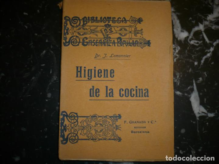 Libros antiguos: HIGIENE DE LA COCINA J.LEMONNIER S/F BARCELONA - Foto 2 - 72077343