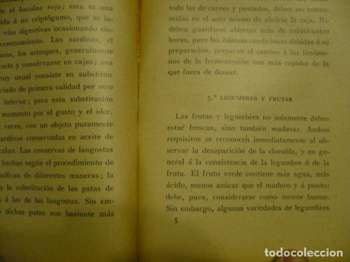 Libros antiguos: HIGIENE DE LA COCINA J.LEMONNIER S/F BARCELONA - Foto 4 - 72077343