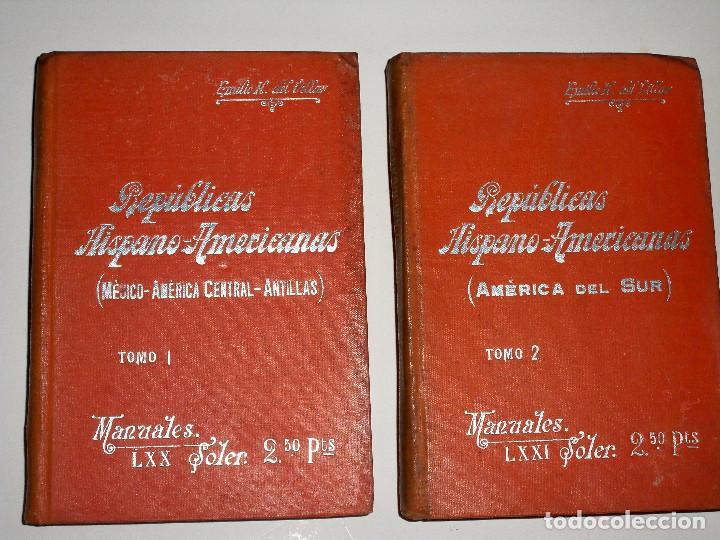 MANUALES SOLER REPUBLICAS HISPANO AMERICANAS 1 Y 2 HISPANOAMERICANAS MEJICO AMERICA CENTRAL ANTILLAS (Libros Antiguos, Raros y Curiosos - Ciencias, Manuales y Oficios - Otros)