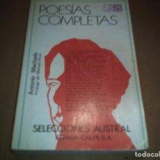 Libros antiguos: POESÍAS COMPLETAS. Lote 72378043