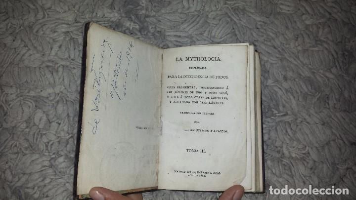 LA MYTHOLOGIA EXPLICADA PARA LA INTELIGENCIA DE TODOS. TOMO III (1808) (Libros Antiguos, Raros y Curiosos - Pensamiento - Otros)