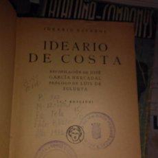 Libros antiguos: IDEARIO DE COSTA. Lote 72746499