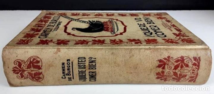 Libros antiguos: 8293 - ¿QUIERE USTED COMER BIEN?. CARMEN DE BURGOS. EDIT. RAMÓN SOPENA. 1936. - Foto 5 - 72837375