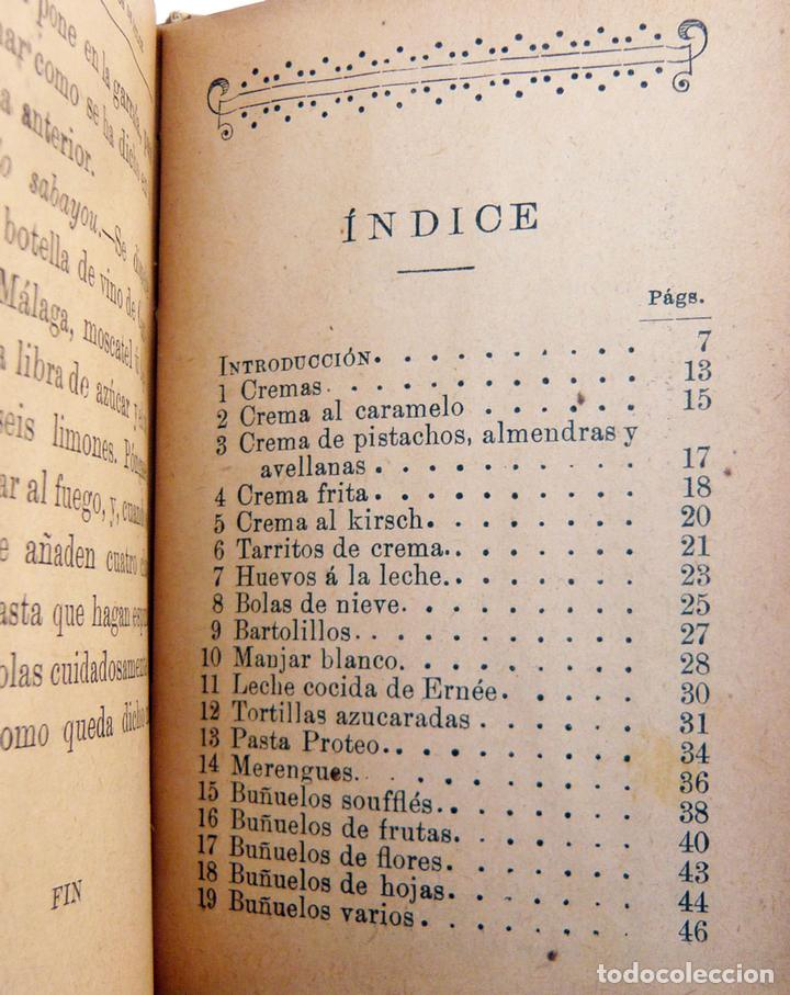 Libros antiguos: CIEN FORMULAS PARA PREPARAR PLATOS DE DULCE / M. ROSE / ED. CALLEJA 1900 / MUY DIFICIL/ BUEN ESTADO - Foto 6 - 72845771