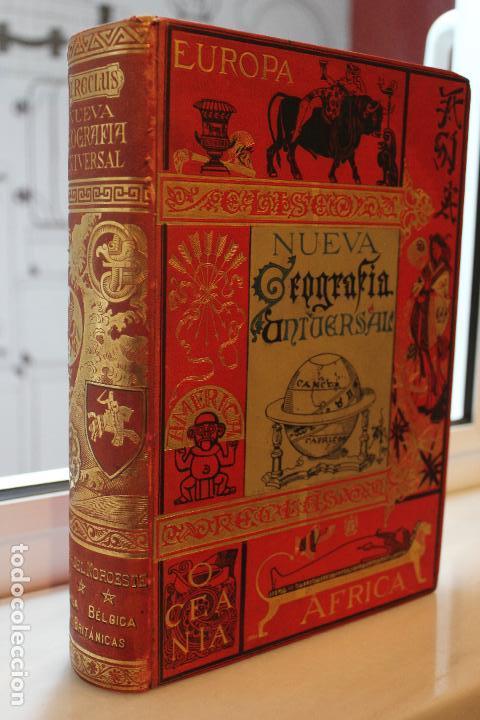 Libros antiguos: NUEVA GEOGRAFIA UNIVERSAL POR ELISEO RECLUS. EL PROGRESO 1892. PRIMERA SERIE EUROPA TOMO III. - Foto 2 - 72915663