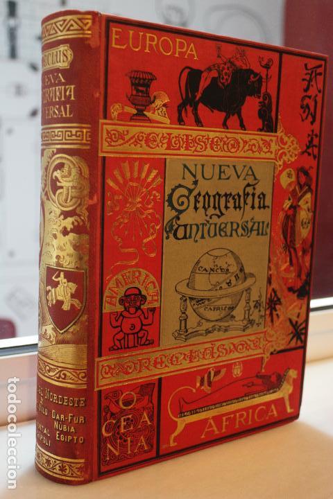 Libros antiguos: NUEVA GEOGRAFIA UNIVERSAL POR ELISEO RECLUS.EL PROGRESO 1890. SEGUNDA SERIE: AFRICA TOMO I - Foto 2 - 72928487
