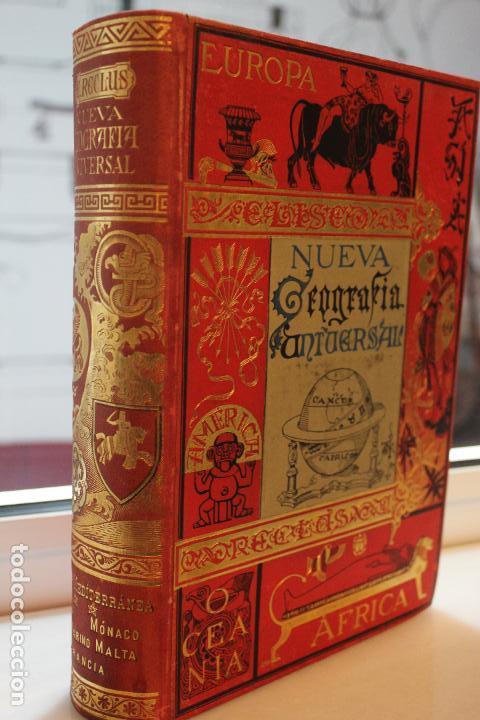 Libros antiguos: NUEVA GEOGRAFIA UNIVERSAL POR ELISEO RECLUS.EL PROGRESO 1889.PRIMERA SERIE: EUROPA TOMO II - Foto 2 - 72928703