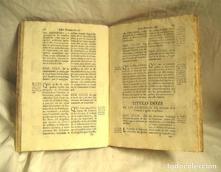 Libros antiguos: Ordenanzas de la Real Audiencia Principado de Cataluña mandadas por el Rey año 1742, Libro pergamino - Foto 3 - 72934503