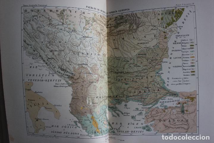 Libros antiguos: NUEVA GEOGRAFIA UNIVERSAL POR ELISEO RECLUS.EL PROGRESO 1888. PRIMERA SERIE: EUROPA TOMO I - Foto 4 - 72945915