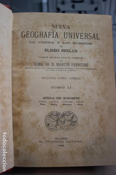 Libros antiguos: NUEVA GEOGRAFIA UNIVERSAL POR ELISEO RECLUS.EL PROGRESO 1889. SEGUNDA SERIE: AFRICA TOMO II - Foto 3 - 72946639