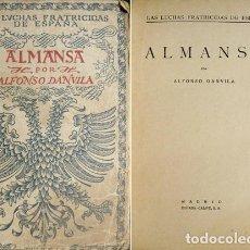 Libros antiguos: DANVILA, ALFONSO. ALMANSA. 1926.. Lote 72955579