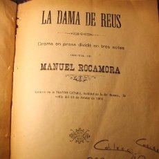 Libros antiguos: LA DAMA DE REUS, AÑO 1894. Lote 73380843