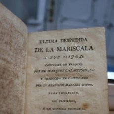 Libros antiguos: ULTIMA DESPEDIDA DE LA MARISCALA A SUS HIJOS, MARQUES DE CARACCIOLO.AÑO DE 1800. VER FOTO ADICIONAL. Lote 73415511